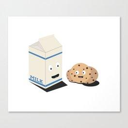 Cookies and Milk best friends Canvas Print