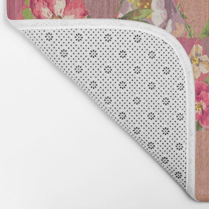 GEOMETRIC MODERN FLOWERS Bath Mat