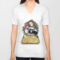 ouija V-neck T-shirts featuring Ouija by Daniella Batsheva