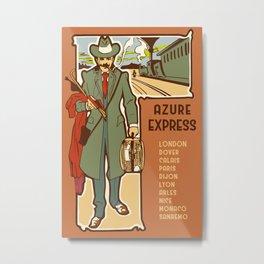 Azure Express train travel Metal Print