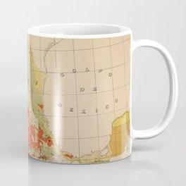 Vintage Geological Map of Mexico (1921) Coffee Mug