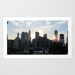 Cityscape no. 1 Art Print
