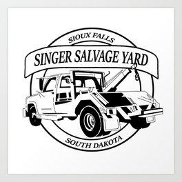 Singer Salvage Art Print