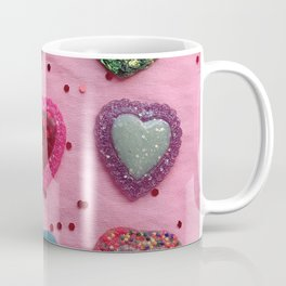 Glitter Hearts Club Coffee Mug