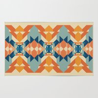 sacred geometry Area & Throw Rugs featuring Sacred Geometry by defyeyes