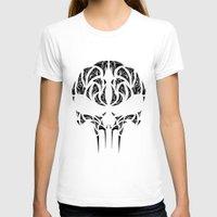 punisher T-shirts featuring Tribal Punisher by Kush Wright