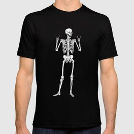 Metal and Rock and Roll Skeleton T-shirt