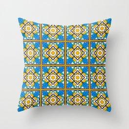 Vintage Majolica Tiles Throw Pillow