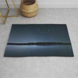 Lacerta star constellation, Night sky, Cluster of stars, Deep space, Lizard constellation Rug