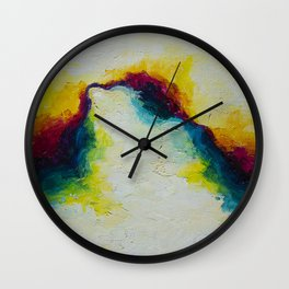 Color Bursting From the Void Wall Clock