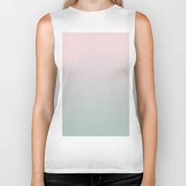 Simply Pink & Mint Color Gradient - Mix And Match With Simplicity of Life Biker Tank
