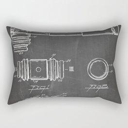 Judge Gavel Patent - Lawyer Art - Black Chalkboard Rectangular Pillow