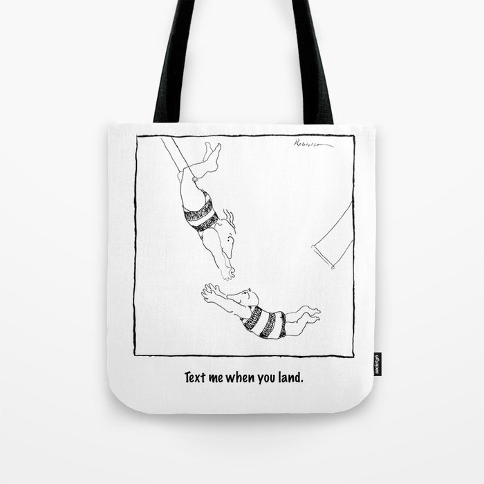 Text Me When You Land Tote Bag