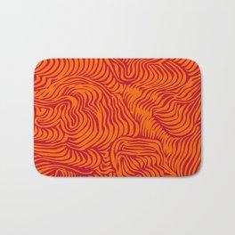 orange red flow Bath Mat