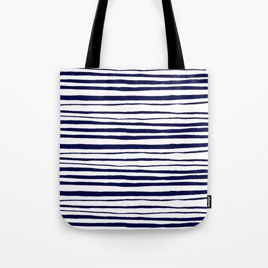 Blue- White- Stripe - Stripes - Marine - Maritime - Navy - Sea - Beach - Summer - Sailor 3 Tote Bag