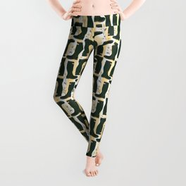 Hunter Green Wellington Welly Boots with Buttercup Flowers on Butter Yellow Streaky Stripes Leggings