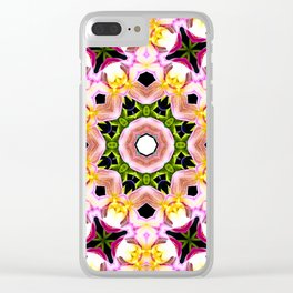 The Life of Flowers Mandala Clear iPhone Case
