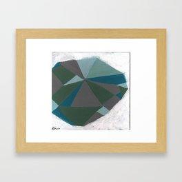 Strange Craft - Abstract Geometric painting by Hannah Morris Framed Art Print