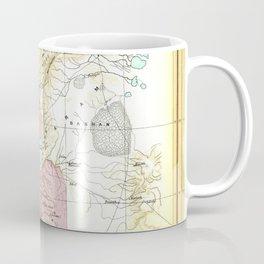 Old 1020BC Saul Palestine Map Coffee Mug