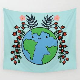 Happy Miss Earth Wall Tapestry