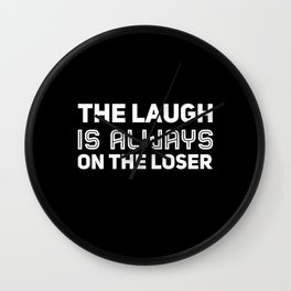 About The Losers Wall Clock
