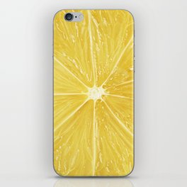 Slice of lemon iPhone Skin
