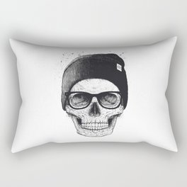 Black Skull in a hat Rectangular Pillow
