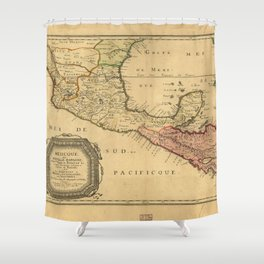 Map of Mexico (1656) Shower Curtain