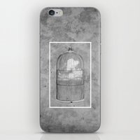 cage iPhone & iPod Skins featuring Cloud Cage by Mehdi Elkorchi