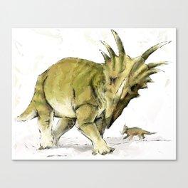 Abstract Styracosaurus Dinosaurs Canvas Print