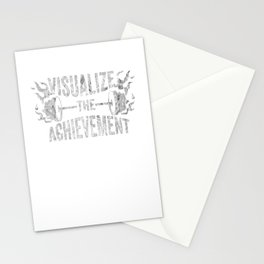 Motivating Visualize The Achievement Workout Apparel Silver Stationery Cards