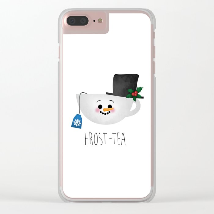 Frost-tea Clear iPhone Case