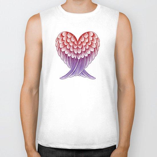 Heart Wings [Pink Version] Biker Tank