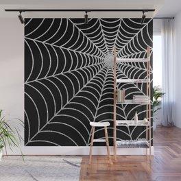 Spiderweb | Silver Glitter Wall Mural