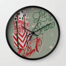 Holiday Bicycle Wall Clock