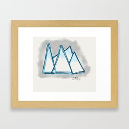 Bluey Peaks Framed Art Print