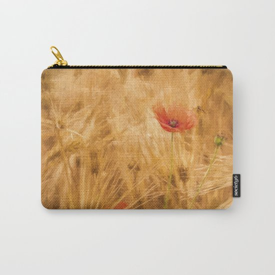 Fiery poppy in a golden cornfield- Poppies Flower Flowers #Society6 Carry-All Pouch