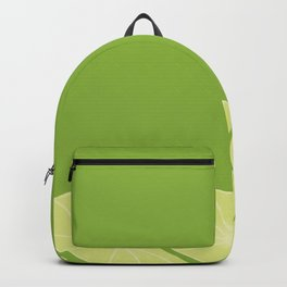Green Background and Lemon Slices Backpack