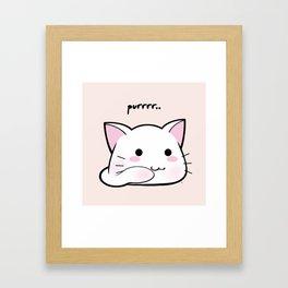 Purrring Kawaii Kitten MEOW! =(^_^)= Framed Art Print