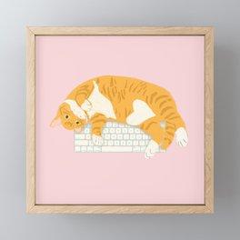KEYBOARD CAT Framed Mini Art Print