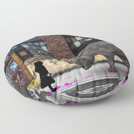 Real Rhinos Wear Pink Floor Pillow