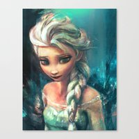 elsa Canvas Prints featuring The Storm Inside by Alice X. Zhang
