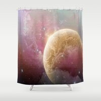 planet Shower Curtains featuring Planet by Kyria Leatherby