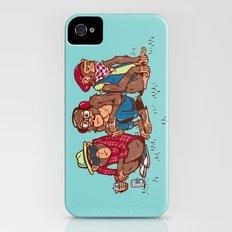 Three Wise Hipster Monkeys Slim Case iPhone (4, 4s)