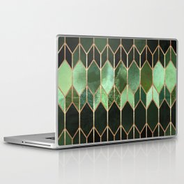 Stained Glass 5 - Forest Green Laptop & iPad Skin