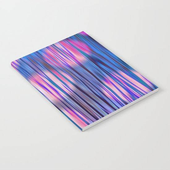 Stripes & Dots in Blue & Purple Notebook