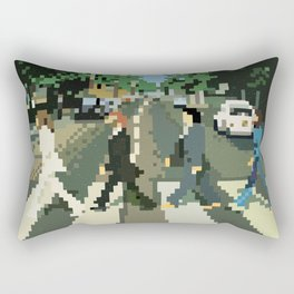 Pixel Abbey Road Rectangular Pillow