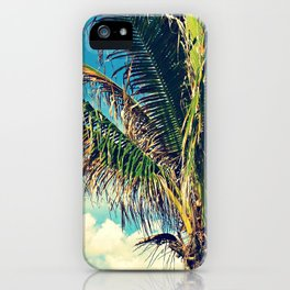 Breezy Beach Palm iPhone Case