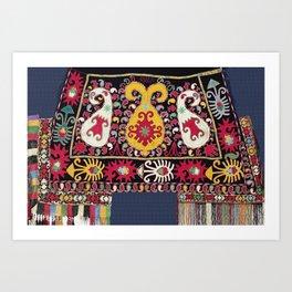 Lakai Tribal Nomad Antique Uzbekistan Horse Cover Print Art Print
