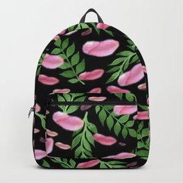 flying leaves in pink Backpack